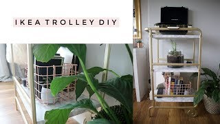 IKEA TROLLEY GOLD AND MARBLE DIY