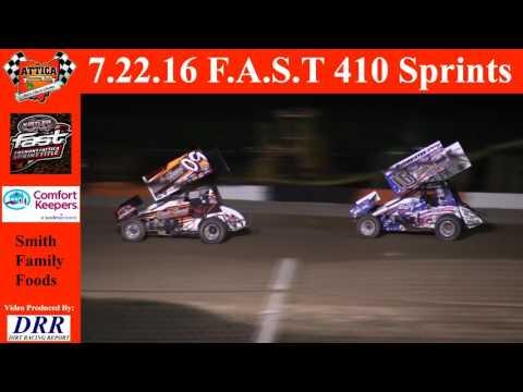 7.22.16 Attica Raceway Park 410 Sprints A-Main