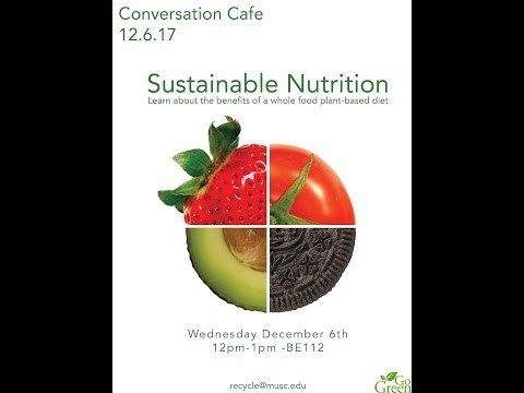Sustainable Nutrition | Conversation Cafe Series 12.6.17