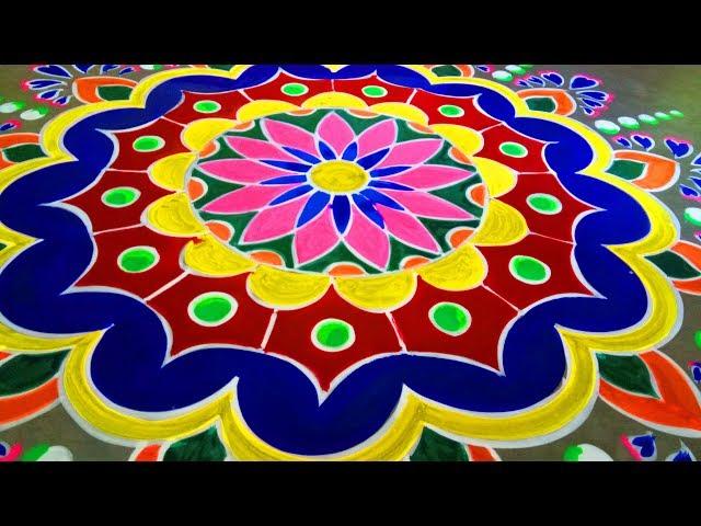 Innovative Big Beautiful bangels Flower Rangoli designs|Kolam designs by Art Gallery