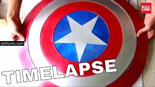 Timelapse - Shield of Captain America (2014 DIY Cosplay)