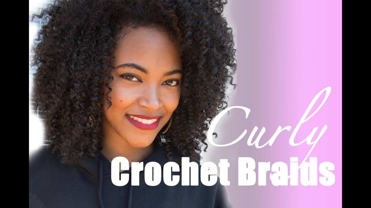 Curly Crochet Braids Tutorial Jasmine Defined - YouTube