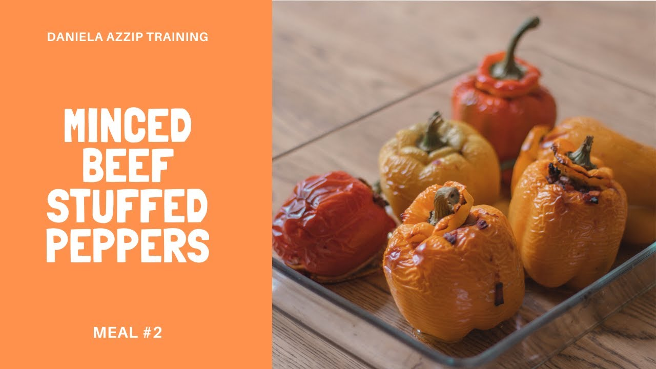 Minced beef stuffed peppers (Meal #2) | Easy and balanced healthy recipe
