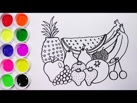 Dibujando y Coloreando Frutas Para Niños - Dibujos Para Niños ...