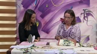 Avental com aplicação de tecido Maria Helena Gobbi