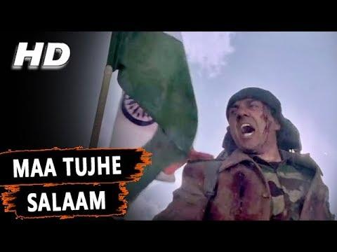 Maa Tujhe Salaam | Shankar Mahadevan | Maa Tujhhe Salaam 2002 Songs | Sunny Deol, Arbaaz Khan
