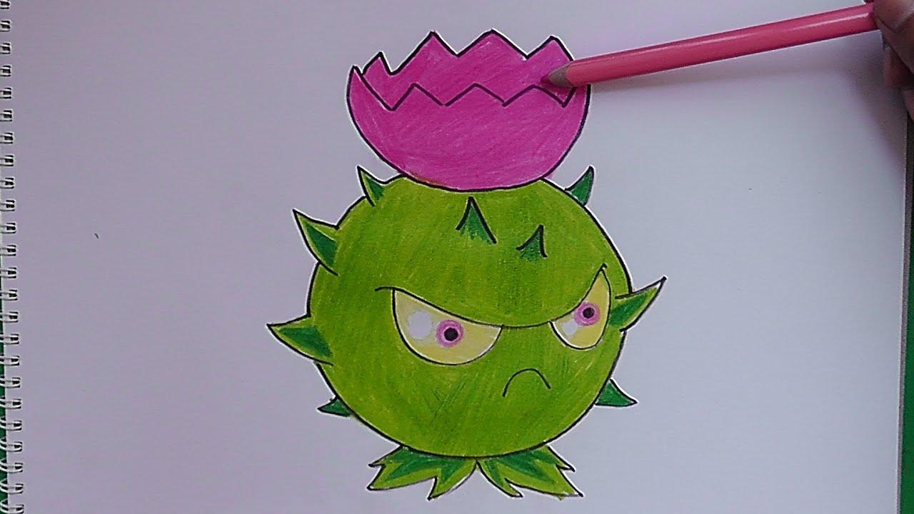 Como Dibujar A Un Pomelo De Pvz: Dibujando A Cardo Teledirigido (Plantas Vs Zombies