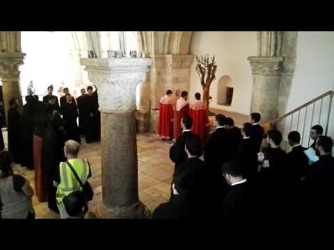 An Armenian pilgrimage at the Cenacle Jerusalem. Pentecost 2016