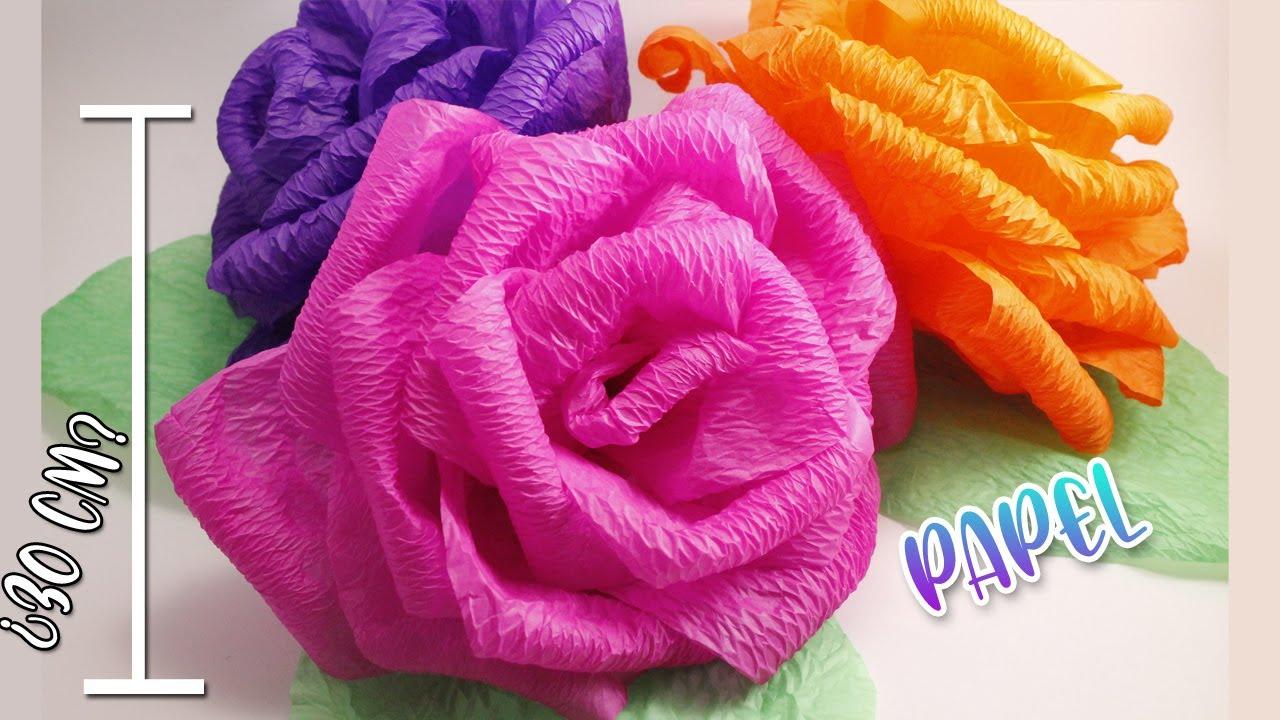 Como hacer flores de papel crepe grandes f ciles y - Videos de como hacer crepes ...
