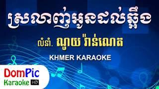 ស្រលាញ់អូនដល់ឆ្អឹង ណូយ វ៉ាន់ណេត ភ្លេងសុទ្ធ - Srolanh Oun Dol Chaung Noy Vanneth - DomPic Karaoke