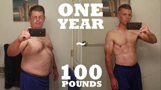 1 Year 100 lb Weight Loss - Mind & Body Transformation