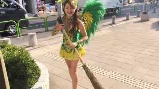 美人アイドル セニョリータ高木が街を掃除する! 高木梓 動画 19