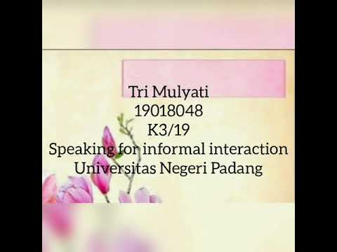 """Speaking For Informal Interaction """"Can I Help You?"""" By Tri Mulyati"""