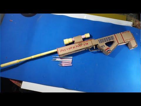 How to make a AWP gun-Make a Paper Sniper Rifle that Shoots-[Piece of Paper]