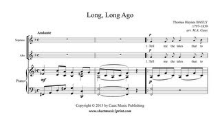 Long, Long Ago - Vocal Duet Sheet Music