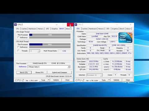 XEON X3440 4GHz / DRAM 2133MHz! Benchmark CPU & MEMORY #PART2