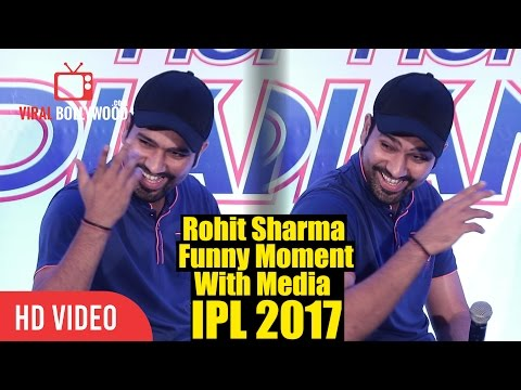 Mumbai Indians Rohit Sharma Funny Answer To Reporter   Comparing IPL And International Cricket