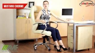 Офисное кресло Мустанг MB Хром Неаполь AMF(Офисное Кресло Мустанг представляет собой солидное и удобное кресло с продуманной эргономической спинкой...., 2016-12-13T10:58:59.000Z)