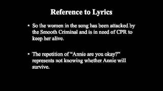 Michael Jackson   Smooth Criminal Song Meaning