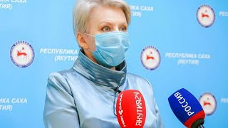Брифинг Ольги Балабкиной об эпидемиологической обстановке в Якутии на 21 октября: трансляция