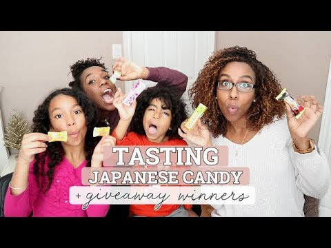 Tasting Japanese Candy + GIVEAWAY Winners!!