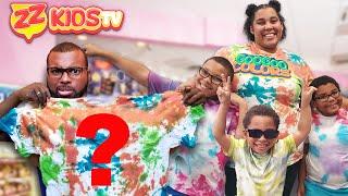 DIY Tie Dye Shirt Challenge with ZZ Kids TV