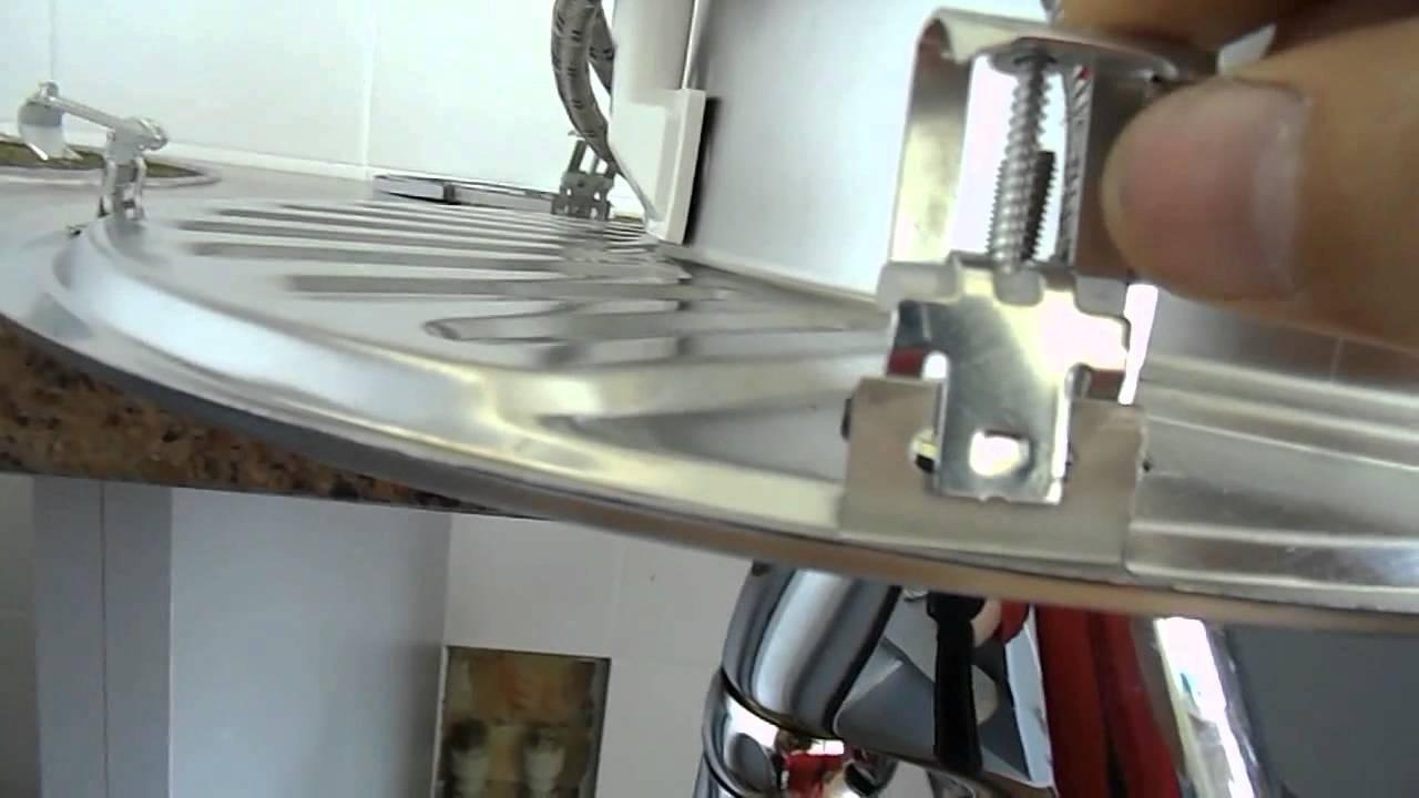 установка круглой раковины