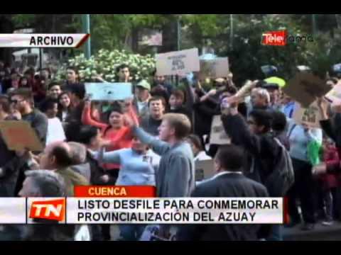 Listo desfile para conmemorar provincialización del Azuay