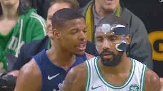 Kyrie Irving SHUTS UP TRASH TALKING ROOKIE WITH CROSSOVER!!!