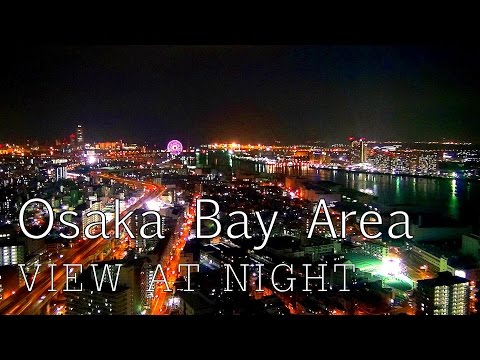 Osaka Bay Area view at night / Osaka HD