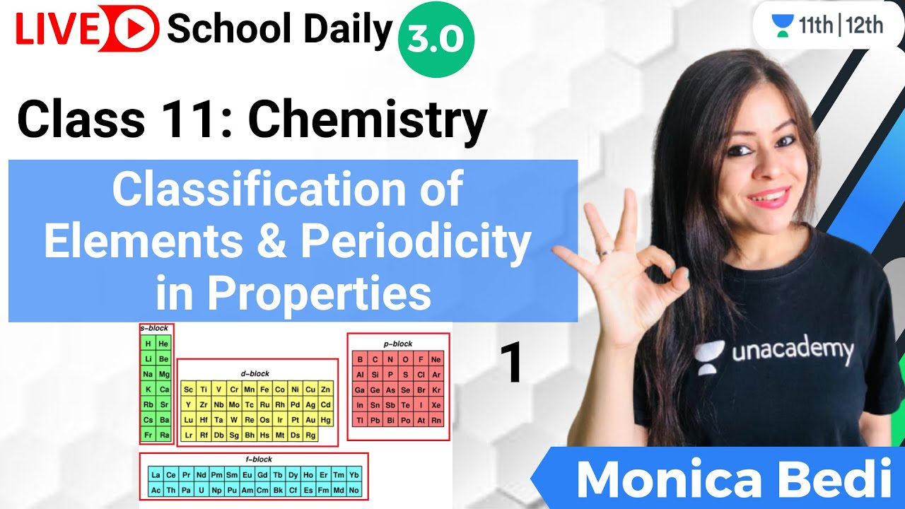 Download Class 11 | Classification of Elements & Periodicity in Properties L1 | Chemistry | Monica Bedi