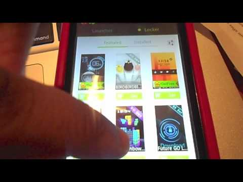 ZTE WARP Tutorial! GO Launcher ,GO Locker ,  GO SMS PRO & Transitions