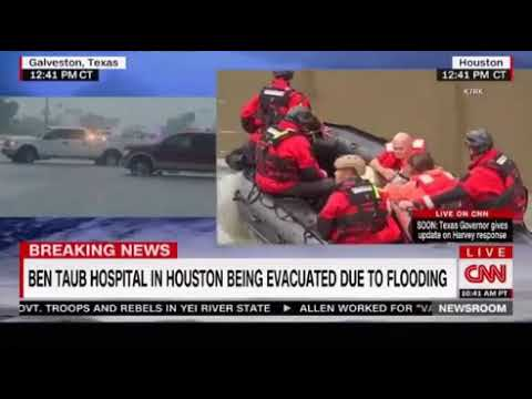 Hurricane Harvey disaster landmark event first hand account of residents evacuating rising floods