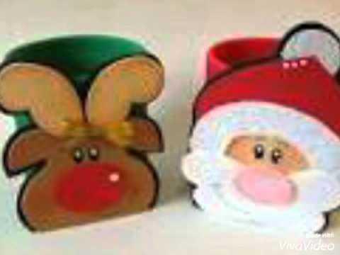 Algunas ideas para bolos o dulceros navide os 3 youtube for Manualidades renos navidenos