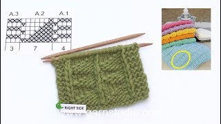 How to knit the textured pattern in DROPS 189-12