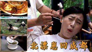成都 Vlog | 成都人回成都当一天游客是什么体验?吃火锅看熊猫喝茶采耳……