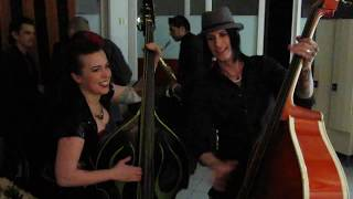 Colleen Duffy of Devil Doll and Ruby Bones upright bass duel