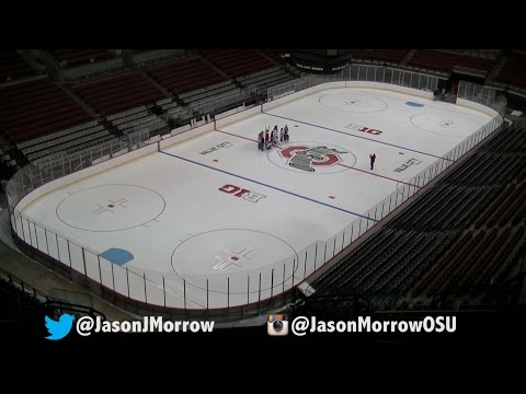 Time-Lapse of Ohio State Hockey Ice Build at Jerome Schottenstein Center 2015