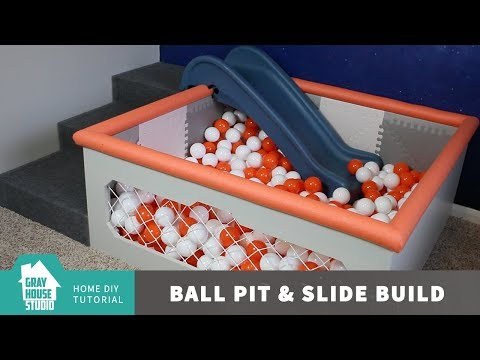 How to Build a Ball Pit With a Slide and Stairs