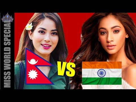 Shrinkhala VS Anukreethy Vas - Miss Nepal VS Miss India