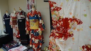 JAPAN! Kyoto: Kimono fitting/ HOW TO TIE AN OBI