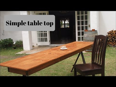 How to Make: Simple wood table top
