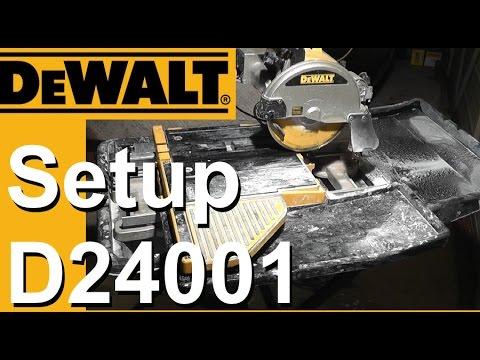 dewalt wet saw setup d24000 d24001