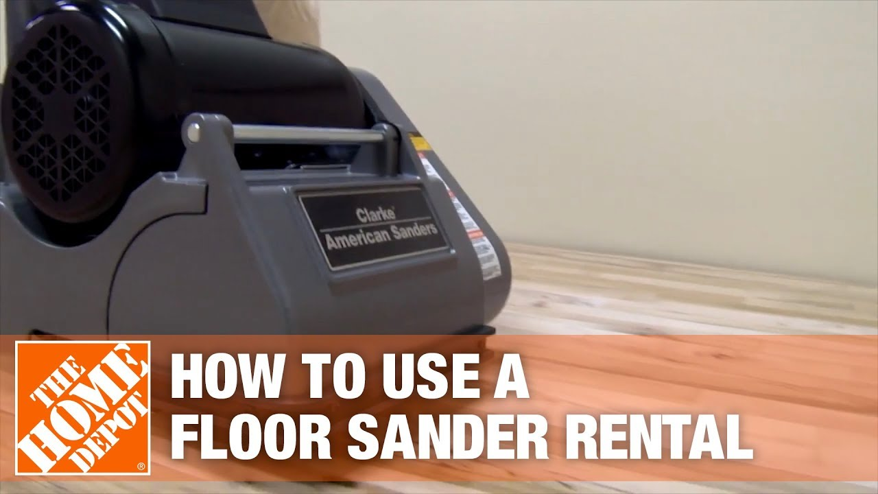 Heavy Duty Drum Sander Rental The Home Depot Rental Youtube