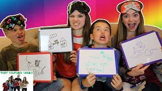 BLINDFOLDED DRAWING CHALLENGE / That YouTub3 Family