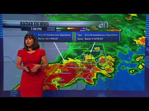 Alertan de lluvias intensas e inundaciones repentinas en Miami, Doral y Broward