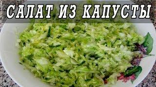 Салат из капусты с луком. Рецепты из капусты.