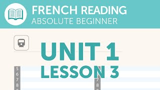 French Reading Comprehension - Reading the Train Schedule