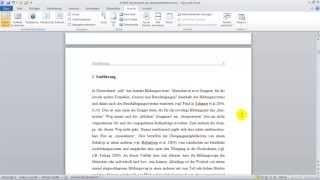 Video Wissenschaftliche Arbeit #1 mit Word 2010 formatieren download MP3, 3GP, MP4, WEBM, AVI, FLV Juni 2018