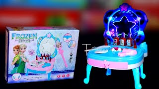 Frozen Beauty Makeup Mirror & Table with Beauty Items Unboxing & Review